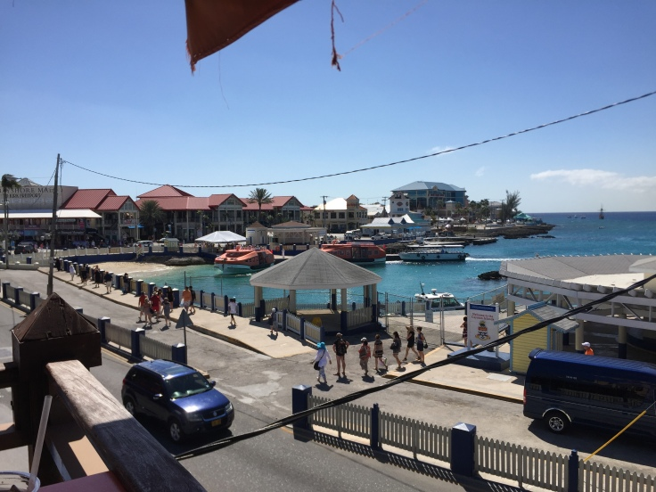 The view from upstairs at Margaritaville, Grand Cayman.