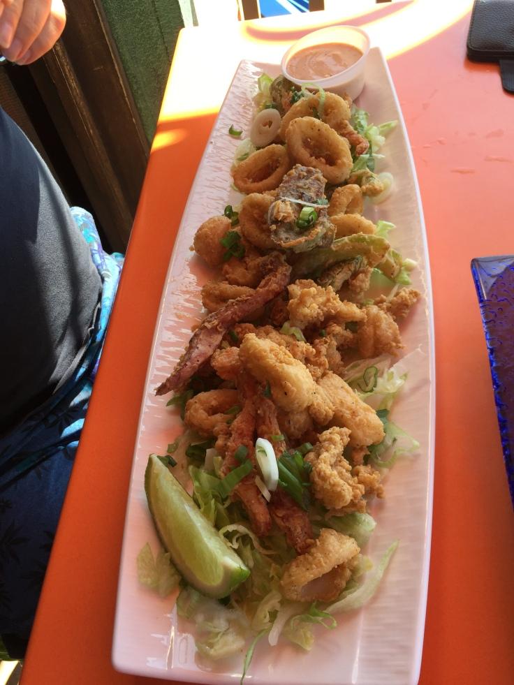 Island Calamari from Margaritaville's appetizer menu.