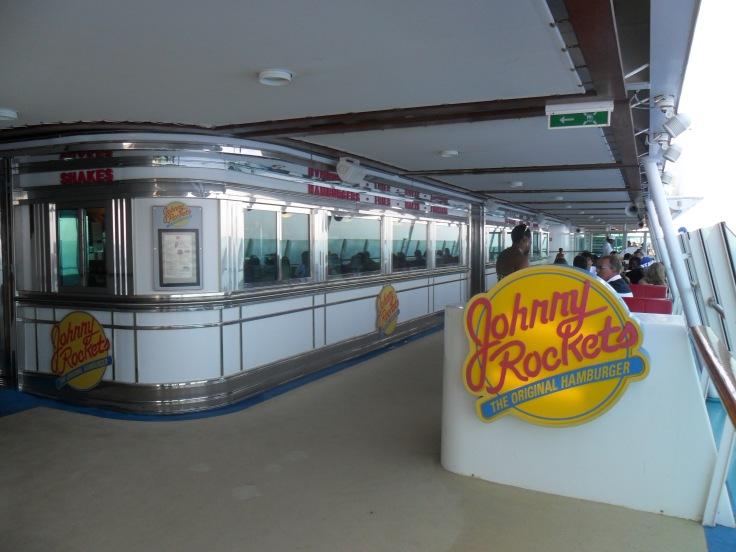 Johnny Rockets on Royal Caribbean cruises