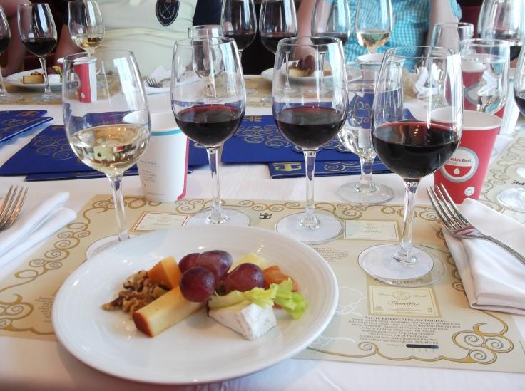 Wine tasting on a Royal Caribbean cruise