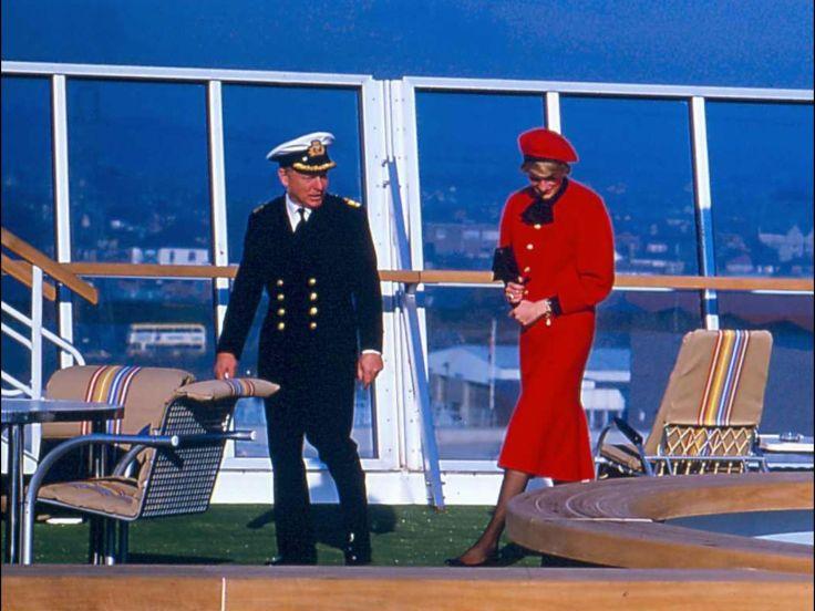 HRH Princess Diana cruise ship christening
