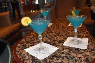 The new Sapphire Princess cocktail enjoyed in the Wheelhouse Bar